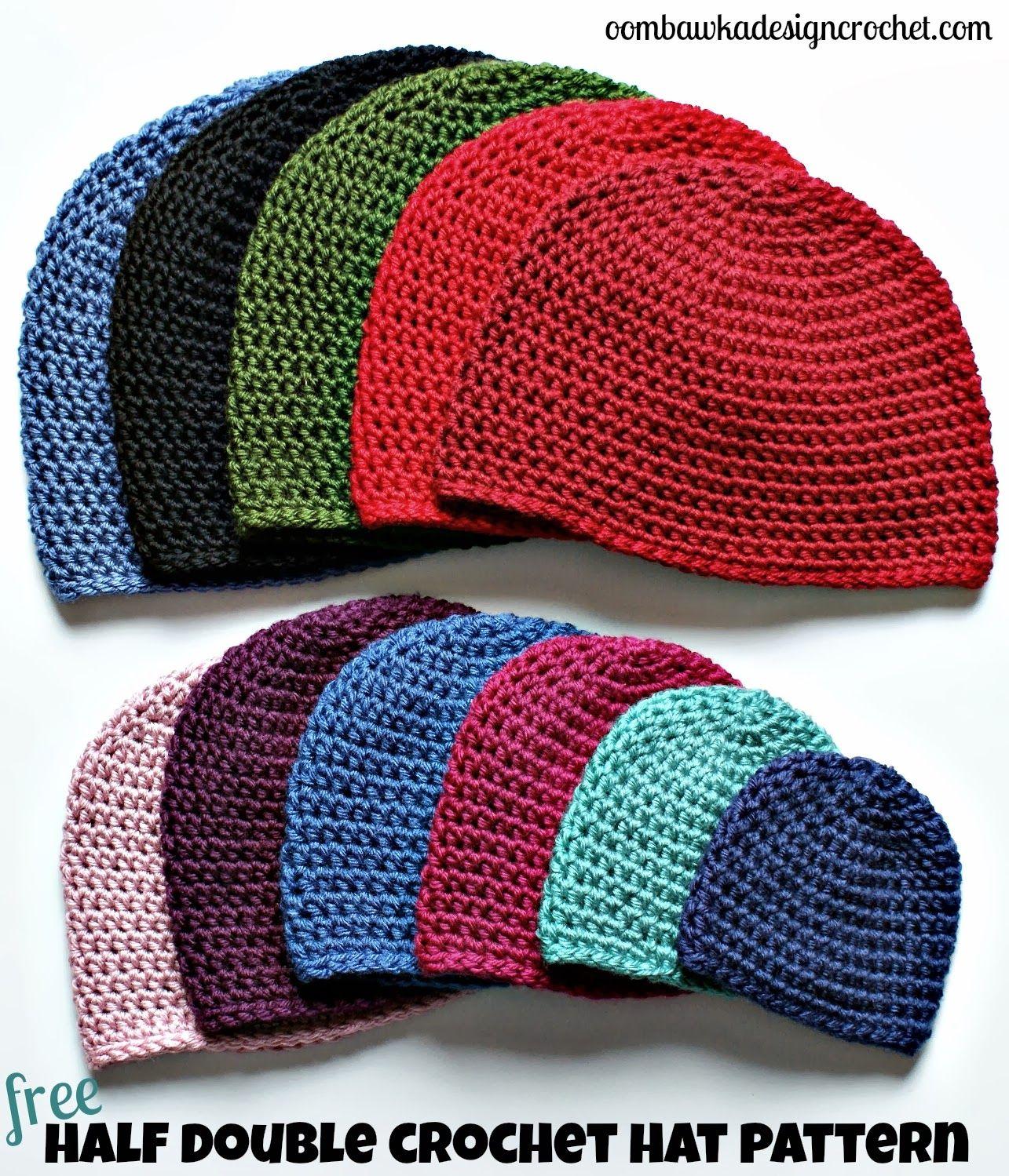 34f5677ef Half Double Crochet Hat Pattern. | Crochet Patterns | Crochet beanie ...