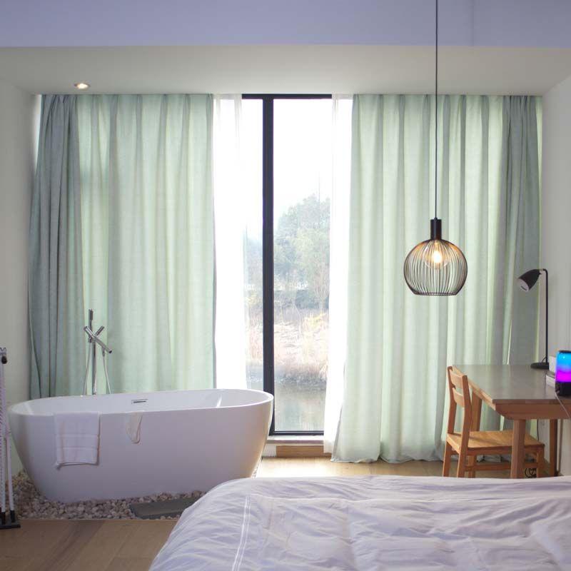 Vorhang Verdunkelung Unifarbe aus Chenille für Schlafzimmer ...