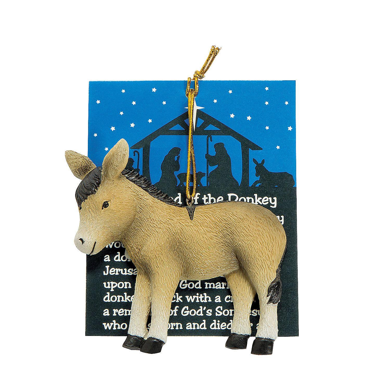 Donkey ornaments -  Legend Of The Donkey Ornaments Orientaltrading Com