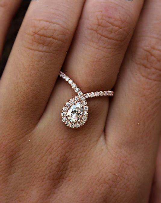 Bliss Diamond Engagement Ring Pear Cut Diamond 0 7 Carat Rose