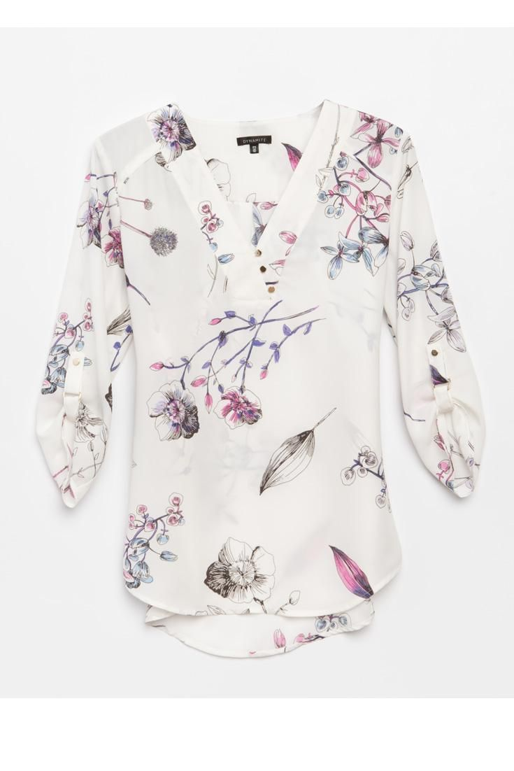 Floral Blouse- cute with dress pants for work or skinny jeans on ...