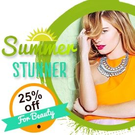 Summer Stunner 25% off for Beauty