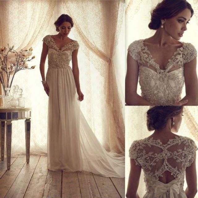 stunning beaded vintage wedding dress