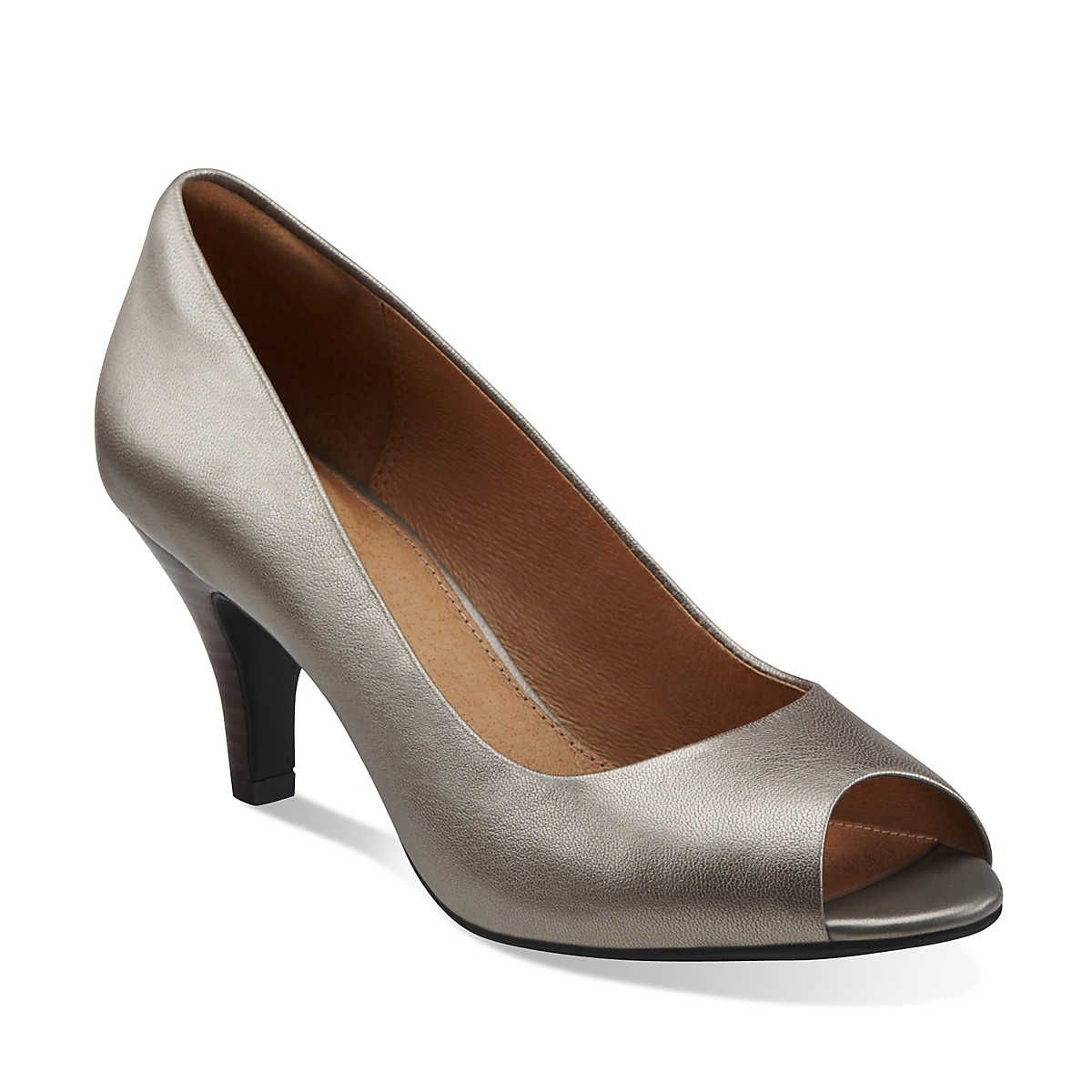 Cynthia Avant in Platinum Leather - Womens Shoes from Clarks