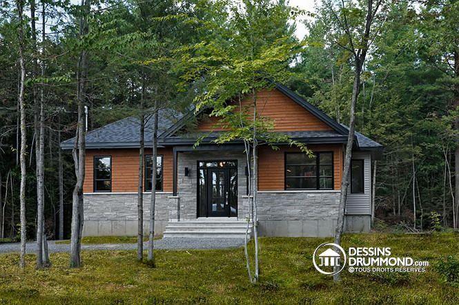 W3152-BH - Plan de maison à entrée split, style Craftsman rustique - liste materiaux construction maison
