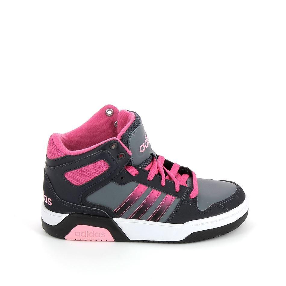 ADIDAS BB9TIS Mid K Noir Rose | Chaussure, Basket sport et