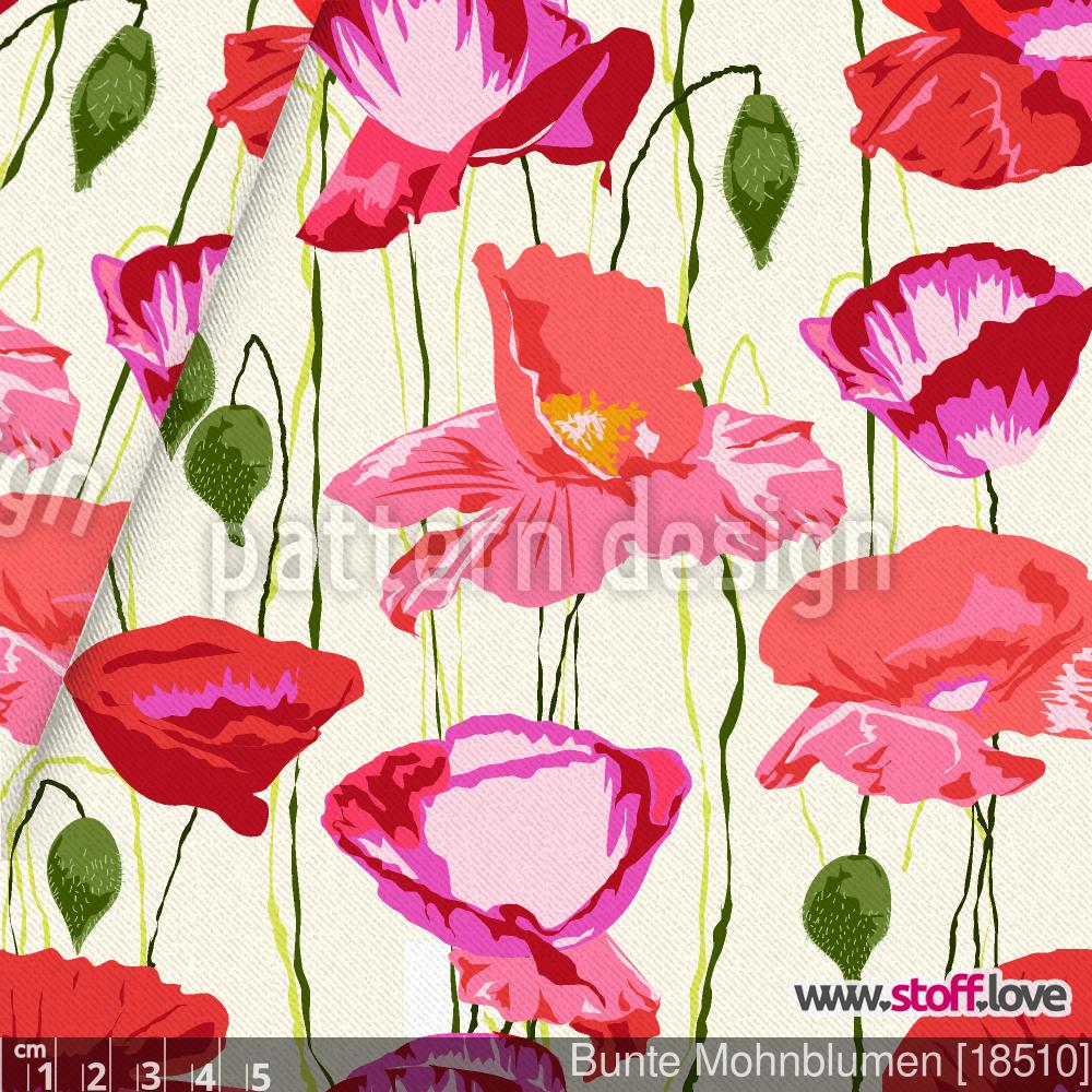 Bunte Mohnblumen By Afaf Saladin Patterndesigns Com Mohnblume Blumen Mohn