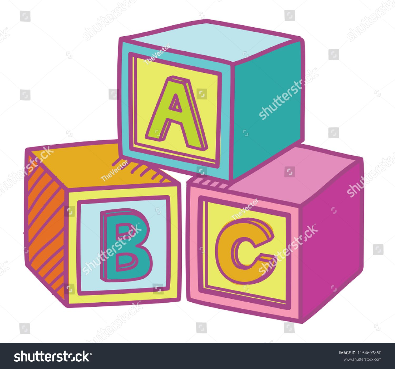Abc Cube Education Game Blocks Toys Vector Ad Sponsored