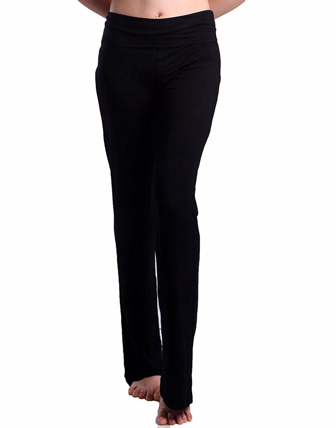 8bcd6459ce Women's Color Block Fold Over Waist Yoga Pants Flare Leg Workout Leggings -  Black - C01219GSGM9,Women's Clothing, Active, Active Pants #women #fashion  ...