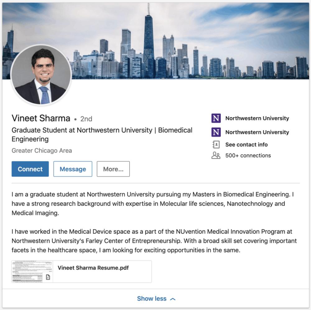 5 Stunningly Good Graduate Student LinkedIn Summary