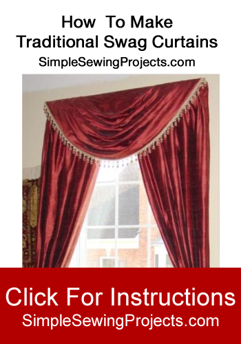 how to make traditional swag curtains window valance patterns pinterest swag curtains. Black Bedroom Furniture Sets. Home Design Ideas