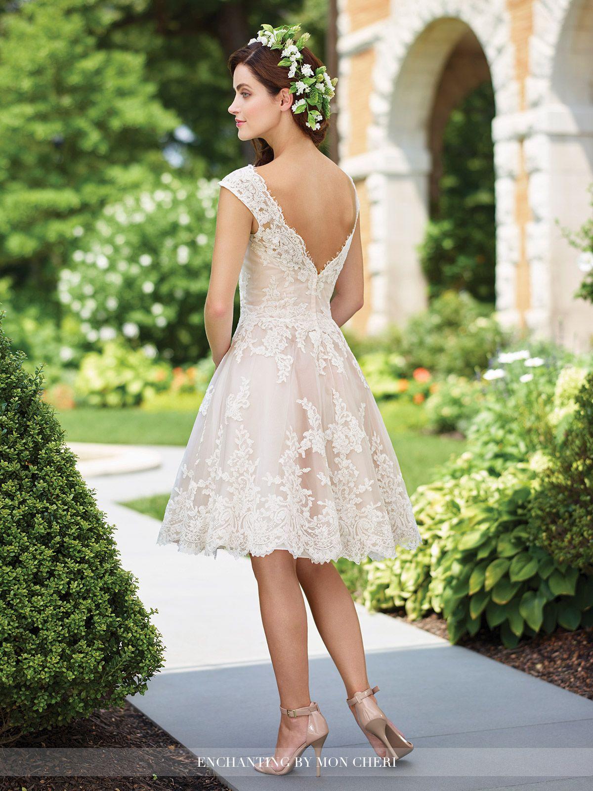 Wedding Dresses Enchanting By Mon Cheri Knee Length Wedding Dress Short Bridal Dress Wedding Dresses [ 1600 x 1200 Pixel ]
