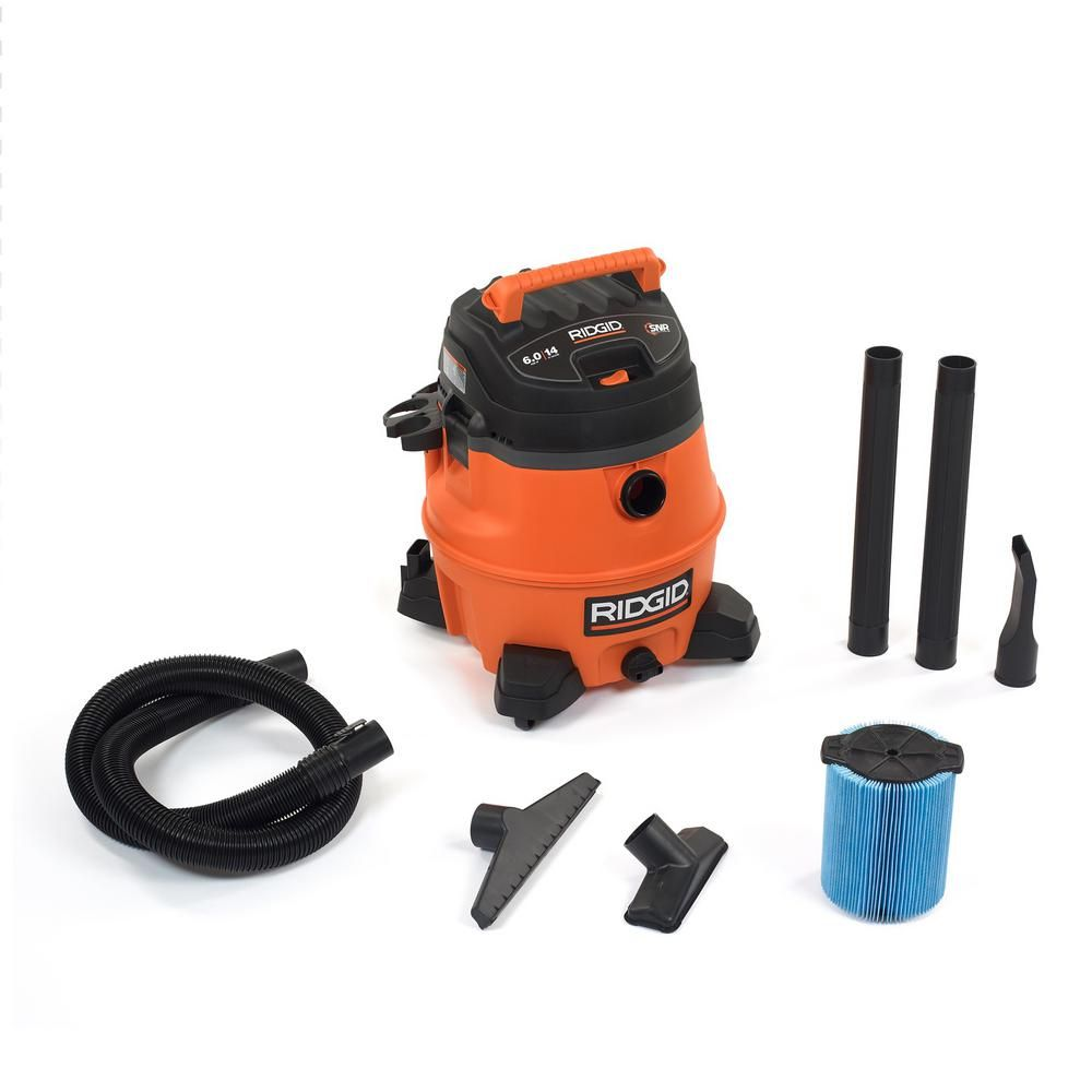 Ridgid 14 Gal 6 0 Peak Hp Wet Dry Vac Wd1450 The Home Depot Diy Homeowner Can T Live Without One Of These Saved Me W Wet Dry Vac Wet Dry Vacuum Home Depot