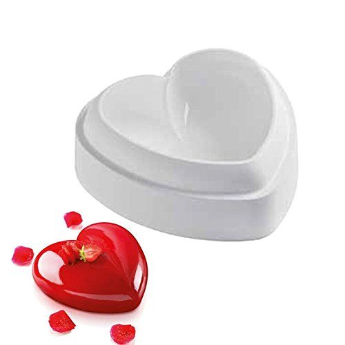 3D Silicone Love Heart Chocolate Baking Cake Mold Bakeware Jelly Candy DIY Tools
