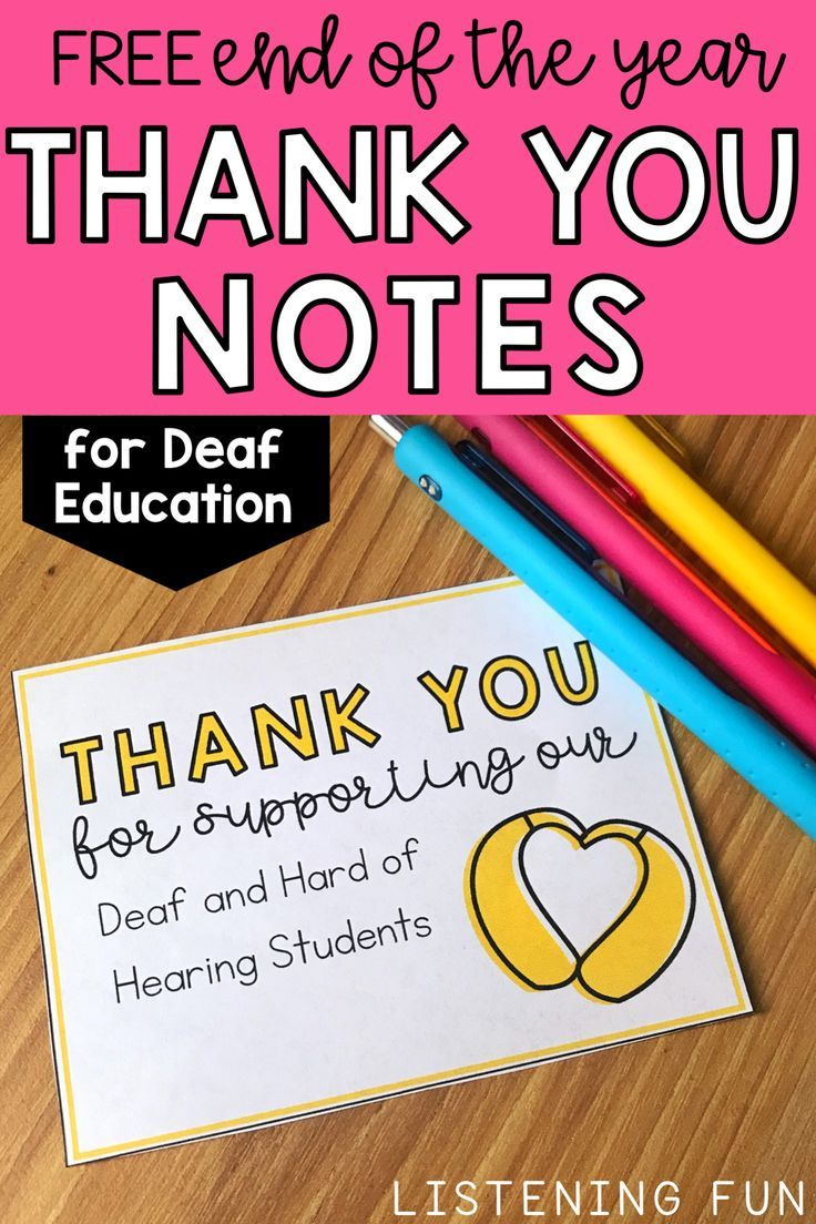 end of year thank you cards for students and staff