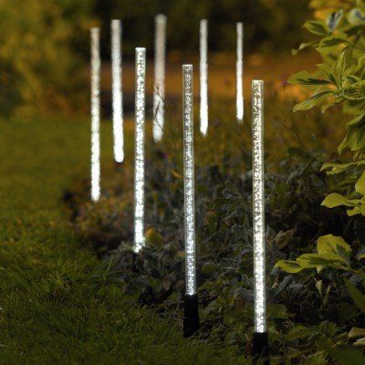 8 X GARDMAN SOLAR POWERED CRYSTAL BUBBLE GARDEN LIGHTS Outdoor Value ...