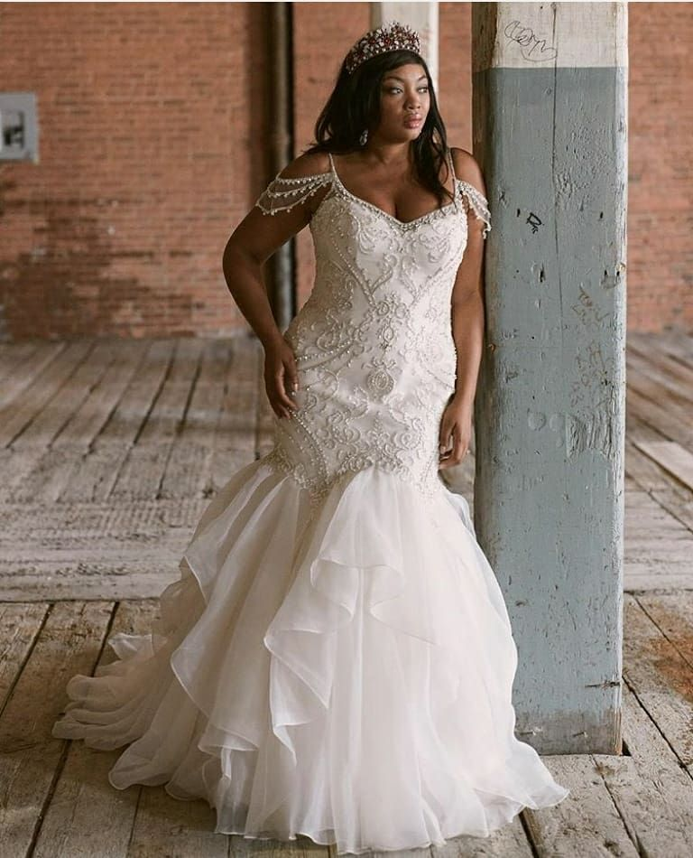 Plus Size Wedding Dress From Fantasy Bridal Plus Size Curvy Fitted Beaded Off Shoulder D Wedding Gown Inspiration Mermaid Wedding Dress Utah Wedding Dress