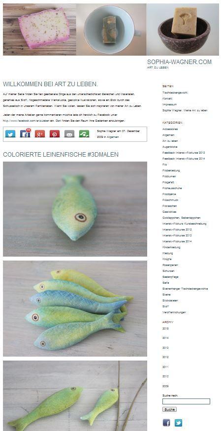 Art zu Leben | Sophia Wagner | Design | Intensivfilzkurse | Projekte