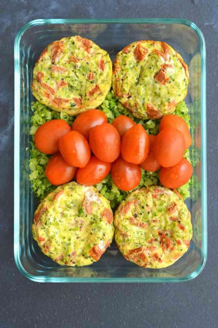 Broccoli Rice Red Pepper Egg Muffins - Meal Prep on Fleek