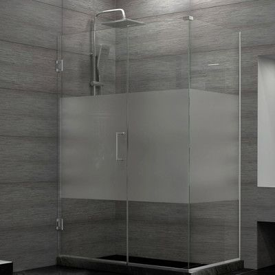 Dreamline Unidoor Plus 34 X 72 Hinged Frameless Shower Door With Clear Max Technology Shower Enclosure Glass Shower Doors Frameless Shower Enclosures