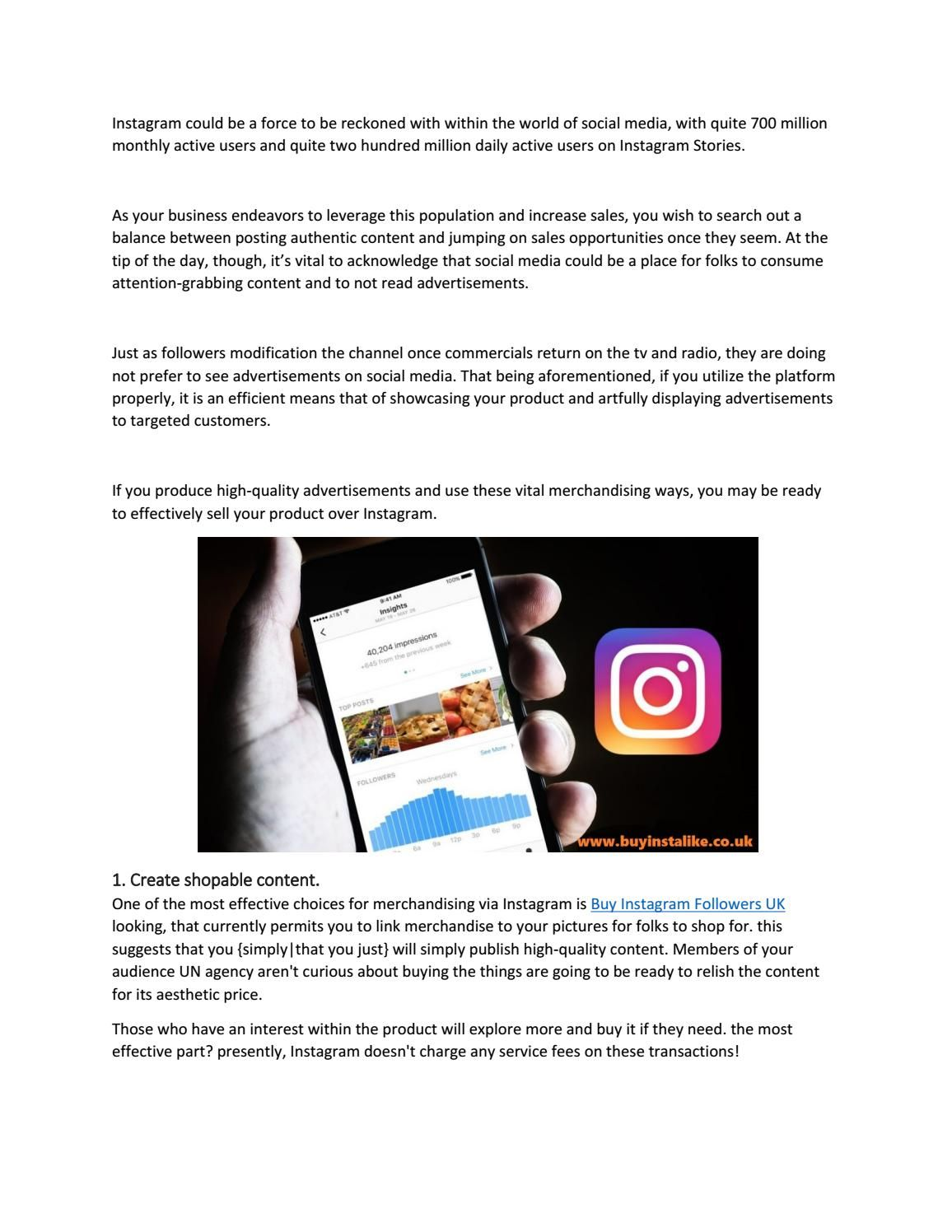 4 tips for selling more effectively on instagram Buy