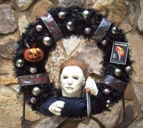 michael myers wreath halloween - Michael Myers Halloween Decorations