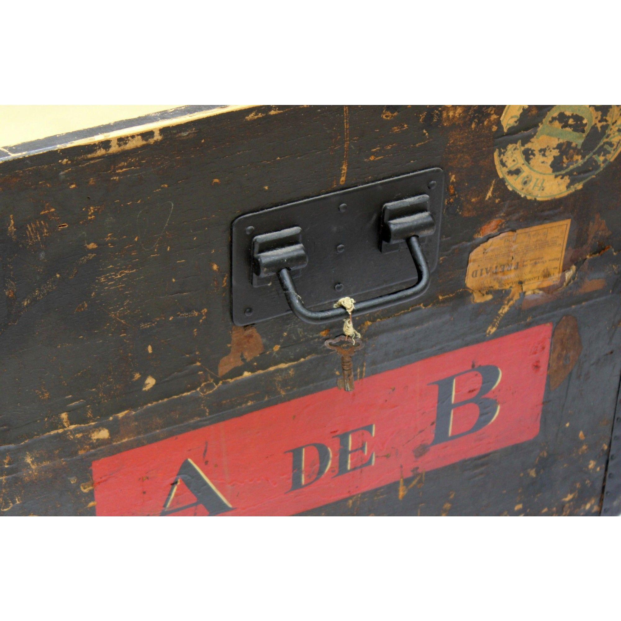 Louis Vuitton Courier Trunk with A DE B initials - Louis Vuitton ...