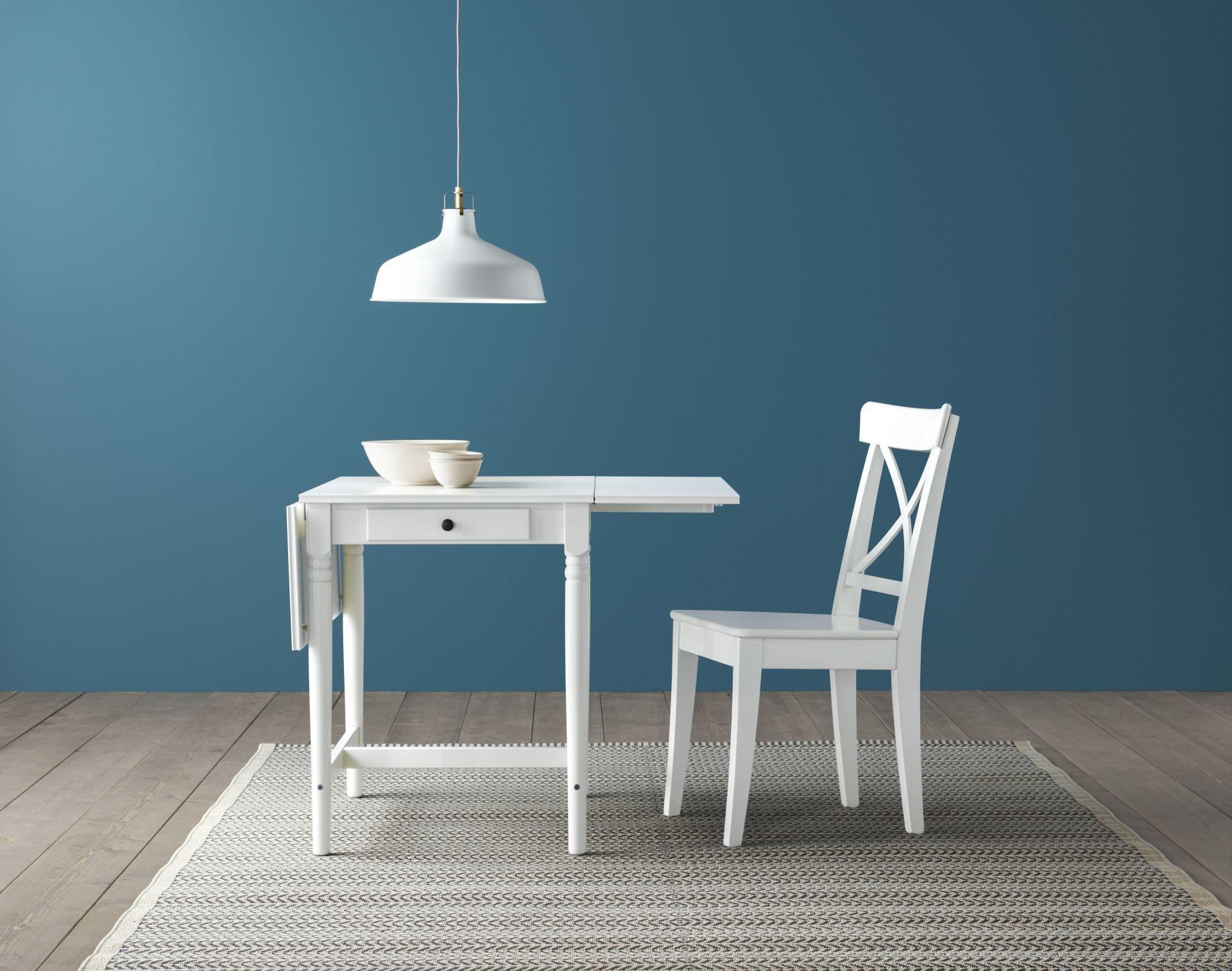 Ikea Witte Stoel : Ingatorp klaptafel wit