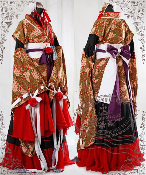 """Heian Noble Literator"", Wa Lolita Fete Hime Kimono*7pcs - fanplusfriend"