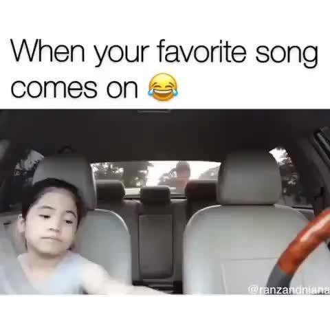 When your favorite song comes on ǻ - )