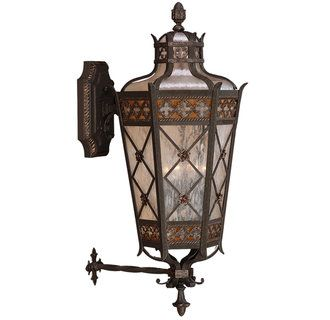 View The Fine Art Lamps 403681st Chateau Outdoor Four Light Outdoor Wall Sconce With Gold Accents And Antiqued Gla Outdoor Sconces Fine Art Lamps Outdoor Walls