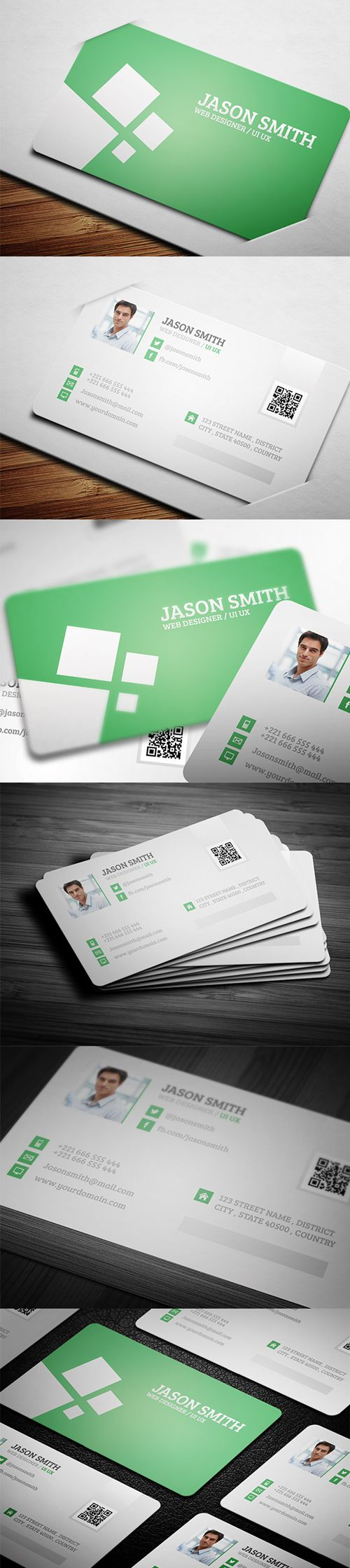 business cards template design - 5 #businesscards ...