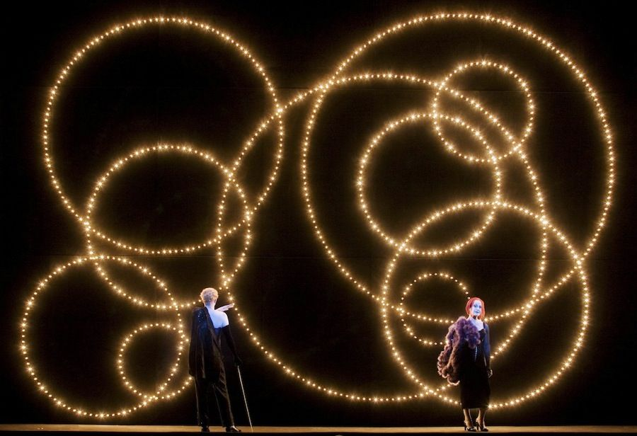 Threepenny Opera  Berlin, 2007 Scenography by Robert Wilson, Photo by Lesley Leslie-Spinks , #light #gears #background