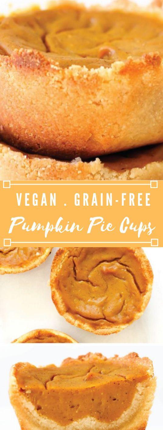 VEGAN & GRAIN-FREE PUMPKIN PIE CUPS #cake #vegan #desserts #pumpkin #pie #insurancequotes