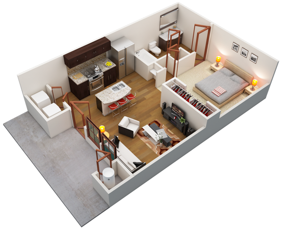 One Bedroom Apartment Floor Plans Google Search Home Stuff