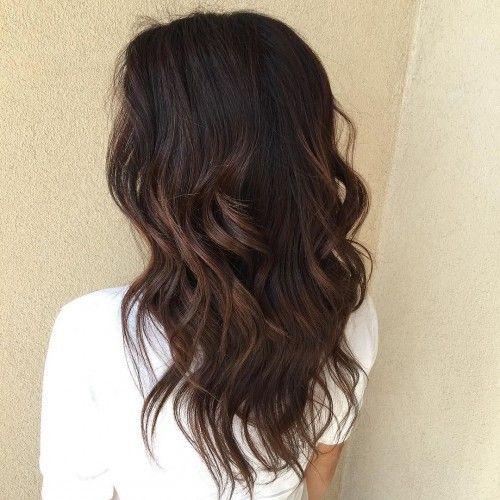 Caramel Balayage On Black Hair Black Hair Balayage Hair Styles Long Hair Styles