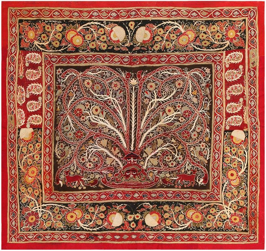 Antique Persian Tree Of Life Rashti Embroidery 45527