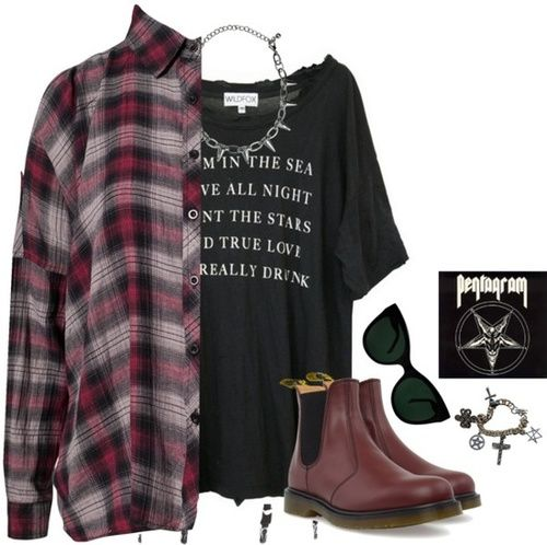 """Polyvore / """"Unbenannt #715"""" by creepywhore ❤ liked on Polyvore"""