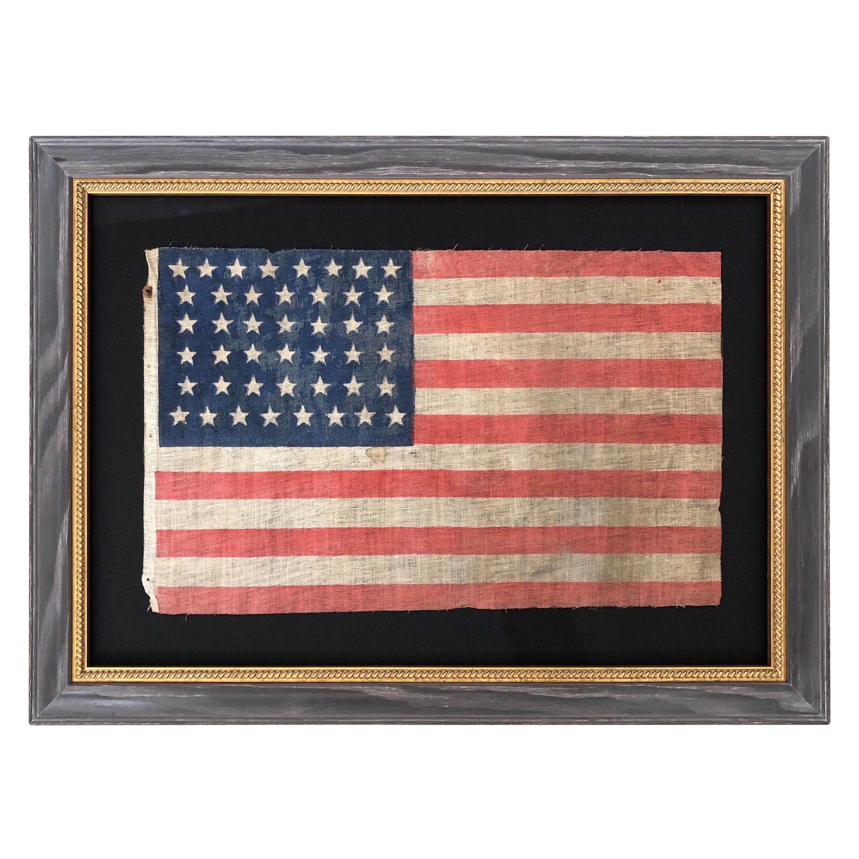44 Star Flag Antique Vintage American Flag Hourglass Star Pattern 1891 1896 Framed Flag Vintage American Flag Flag Maker