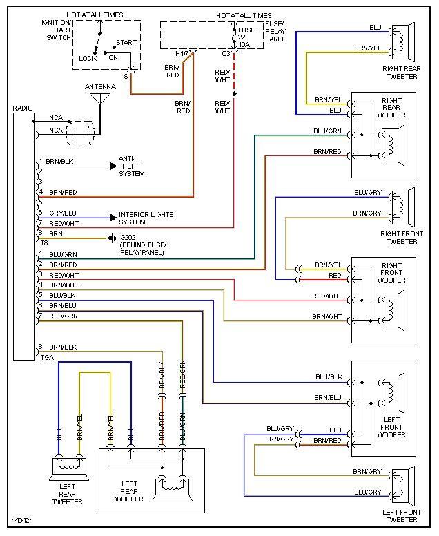 Radio Wireing Vw Jetta Vw Passat Diagram