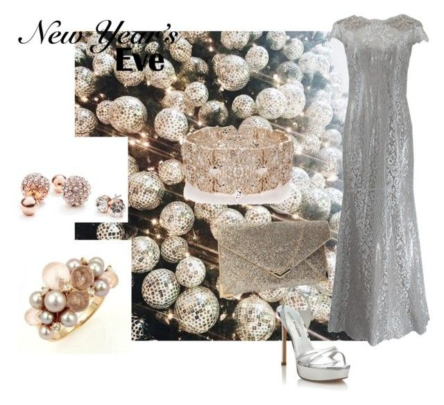"""""""Untitled #136"""" by marianaleonluzardo on Polyvore featuring Marchesa, Stuart Weitzman, Mimí, GUESS and Oasis"""