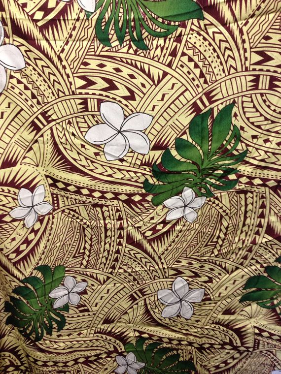 Beautiful Native Samoan Fabric By Sylviasfinds On Etsy