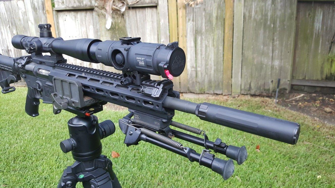 IR Hunter Snipe IR on a .22 rimfire AR w/ the Dead Air