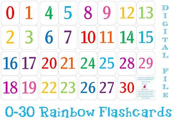 Printable 0 30 Number Flashcards Instant Download Etsy In 2021 Free Printable Numbers Printable Calendar Numbers Printable Numbers