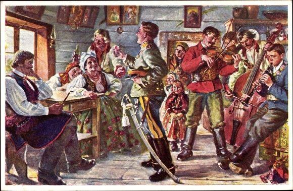 Künstler Ansichtskarte / Postkarte Saski, S., Zaloty | akpool.de