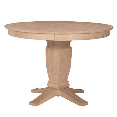 Parawood 60 Inch Round Solid Top Ped Table With Your Choice Of Pedestal