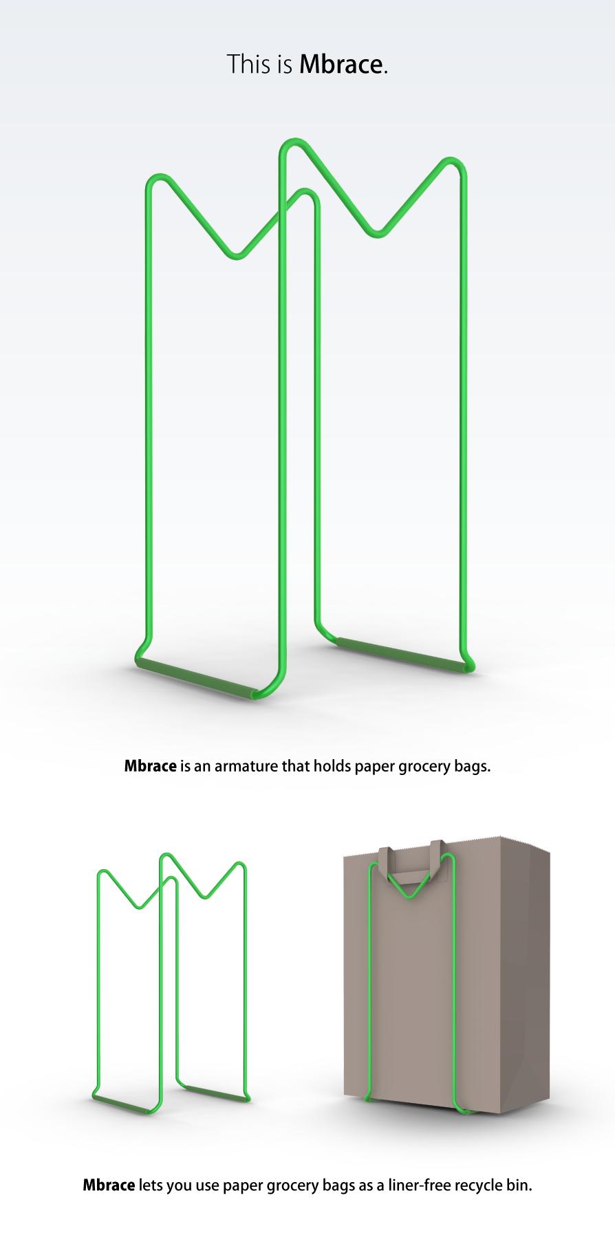 Mbrace. Paper Bag Armature.