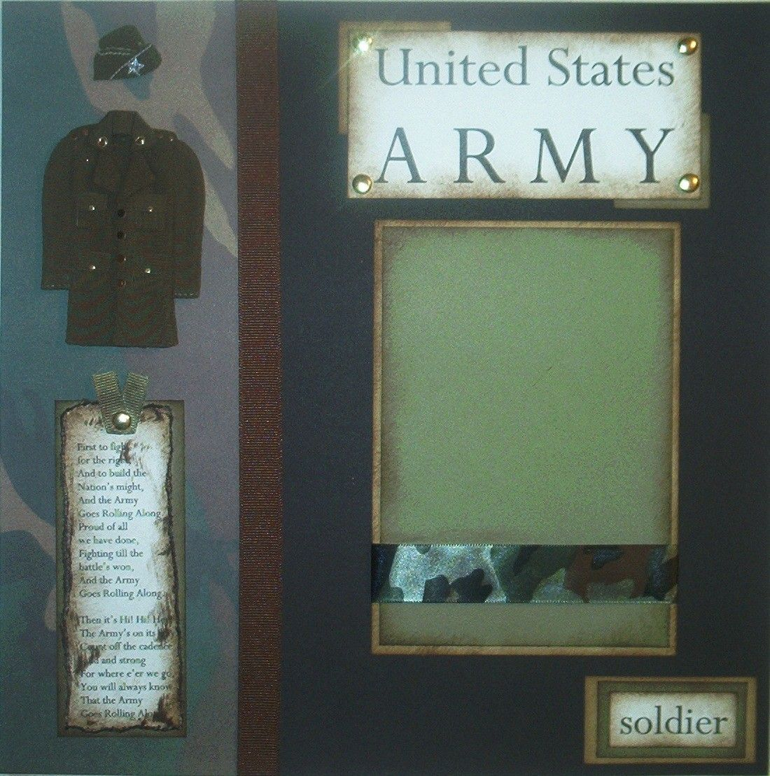 Scrapbook ideas military - Army Military Soldier 12x12 Premade Scrapbook Pages