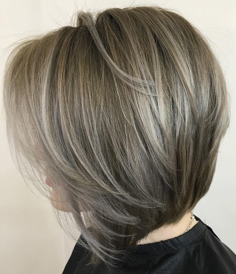 50 Beautiful and Convenient Medium Bob Hairstyles | Ash brown ...