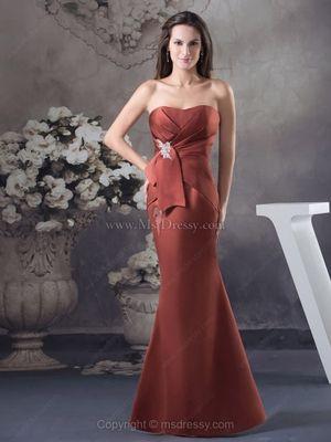 Trumpet/Mermaid Sweetheart Satin Floor-length Ruched Evening Dresses
